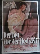 DER TAG VOR DER HOCHZEIT - Filmplakat A1 - Lisabet Müller, Paul Dahlke 1952