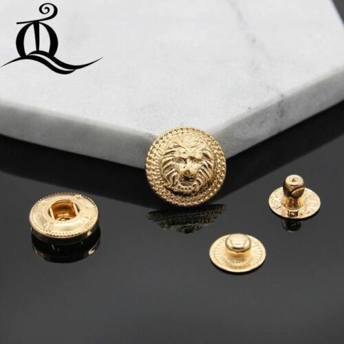 10pcs lion Brass Snap Fastener Press Stud Rivet 831 Type Sewing Leather Button C