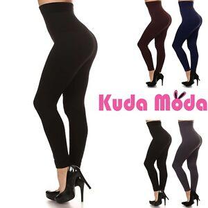 9b24894bdb0 Image is loading Women-Thick-High-Waist-Tummy-Compression-Slimming-Leggings-
