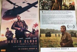 Promotional-Movie-Flyer-Danger-Close-The-Battle-Of-Long-Tan-Fimmel-NOT-A-DVD