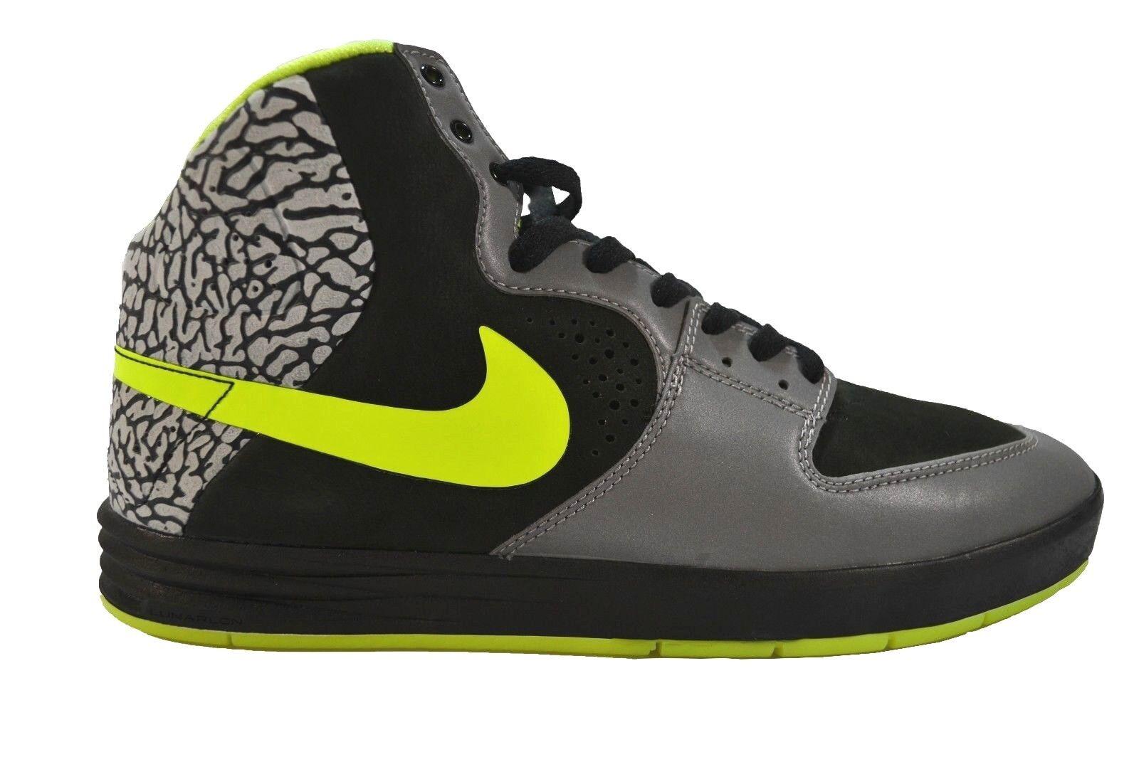 Nike PAUL RODRIGUEZ 7 HIGH PRM Metallic Silver Volt Black Price reduction Men's Shoes The latest discount shoes for men and women