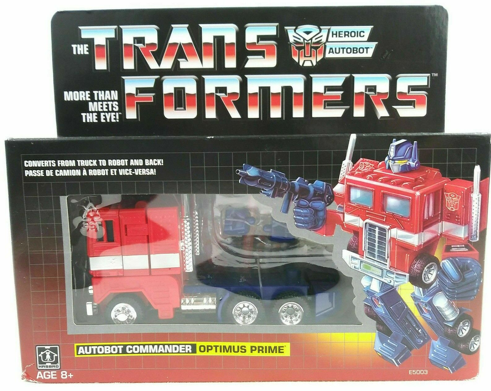 Hasbro Transformers Optimus Prime Vintage G1 Walmart Excl NEW SEALED Free S h