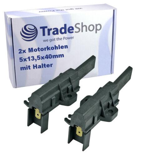 2x Spazzole Motore Carboni 6,3mm amp per INDESIT f033598 wil85 f033599 wil105