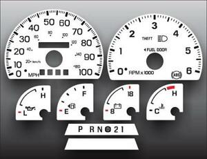 1997-1998-Ford-F150-Expedition-Dash-Cluster-White-Face-Gauges-97-98