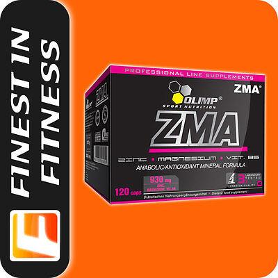 20,15 EUR/100g OLIMP ZMA 120Kaps Zink Magnesium Aspartat Vitamin B6 Pre Workout