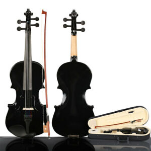 Children-3-4-Size-Acoustic-Violin-w-Case-Bow-Rosin-For-9-12-Year-Students-US
