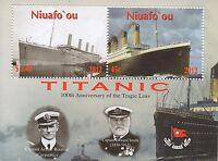 TITANIC 100th ANNIVERSARY CRUISE SHIP SHIPWRECK BOAT 2012 MNH STAMP SHEETLET