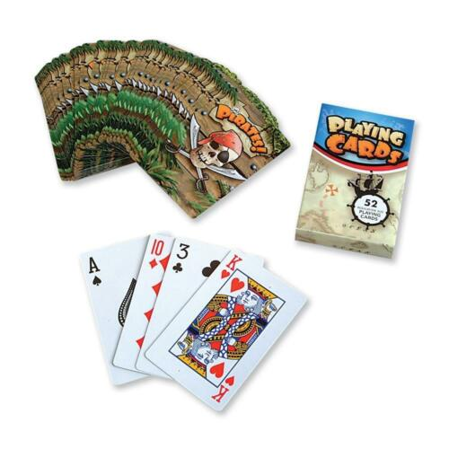 KIDS PARTY BAG FILLER GAME GIFT TOY FULL SIZE QUALITY PIRATE PLAYING CARDS