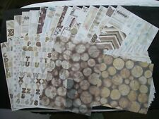Papermania Potted Pansies 4 sheet glittered Ultimate A4 Die Cut Decoupage Pack