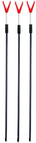 Rutenhalter, Paladin Metallrutenständer Tele 3 Stück Faulenzer 65-100cm
