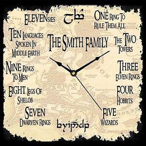 Personalised Lord of the Rings Working Clock Christmas Dad Birthday Gift Present