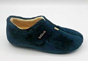 Ladies-Ankle-Boot-Slipper-DeValverde-9724-Marino-Navy