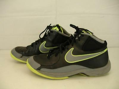 5e198bb32a4e40 Mens 12 M NIKE THE OVERPLAY VII 7 Black Grey Fluorescent Yellow 511372-005  Shoes