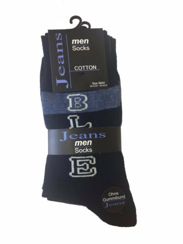 New Men/'s Branded Jeans Blue Mix Office Work *5 Pair Pack* Ankle Cotton Socks