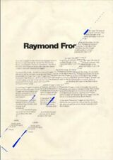 Raymond Froggatt Jet Records Press Kit