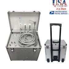 Portable Dental Delivery Turbine Unit Case High Suction Compressor 3 Way 4 Holes