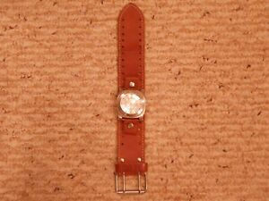 aabb60ae8c61d Nemesis Brown wide Leather Watch Band strap and Nemesis Watch | eBay