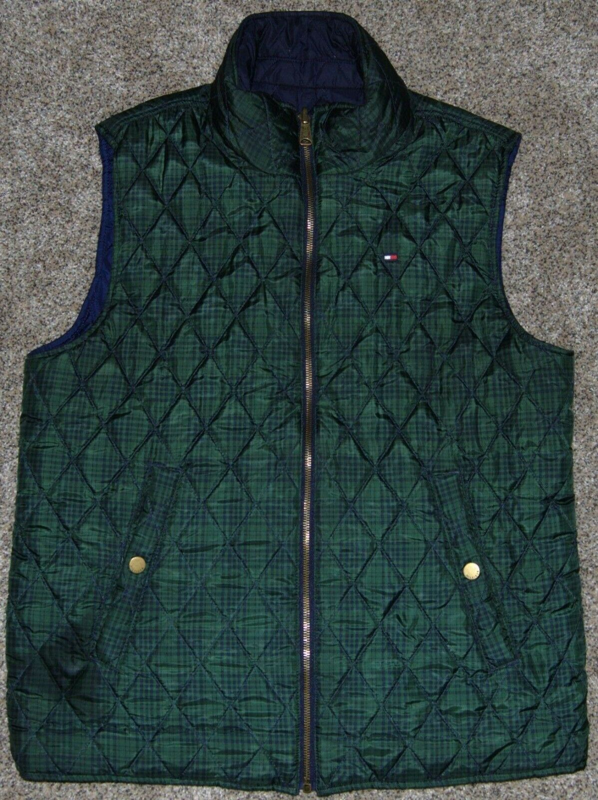 Vintage Tommy Hilfiger Quilted Reversible Women's… - image 3
