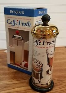 BonJour Caffe Froth Milk Frother For Coffee Drinks Latte ...