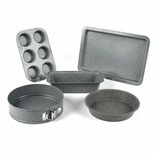 Salter Marble Bakeware - Muffin Tray, Baking Tray, Springform, Round Tin & Loaf