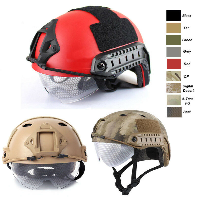 Outdoor CS Shooting Head Predect Gear PJ BJ MH  Fast Tactical Helmet with goggles  outlet sale