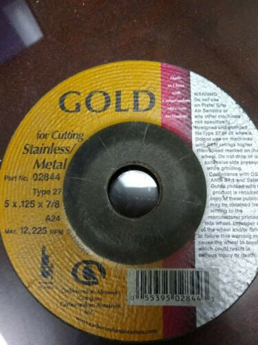 "5/"" x1//8/"" x 7//8/"" Carbo Gold T27 Grinding Wheel"