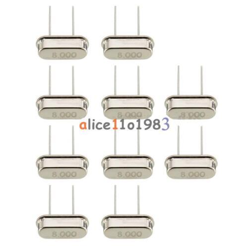 20PCS 8 MHz//8.000 MHz Crystal Oscillateur HC-49S nouveau