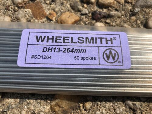NEW Wheelsmith DH13264mm Silver Spokes Bag of 50.