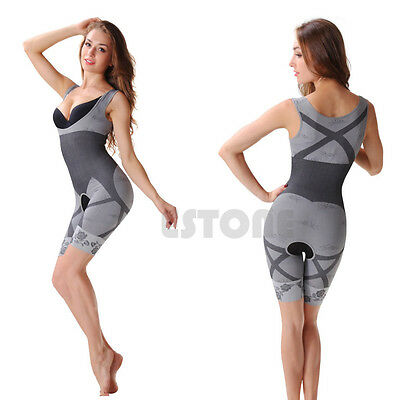 Women Fashion Slimming Bamboo Underbust Shaper Corset Body Bodysuit Shapewear