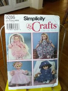 Oop-Simplicity-Crafts-9286-Design-your-own-doll-clothes-all-sizes-NEW