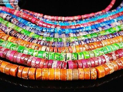 Natural Sea Sediment Jasper Gemstone Heishi Loose Beads 16'' 4mm 6mm 8mm