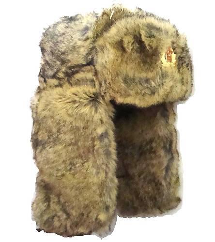 RUSSIAN MILITARY COSSACK TRAPPER HAT mens medium thick cream fur Soviet ushanka