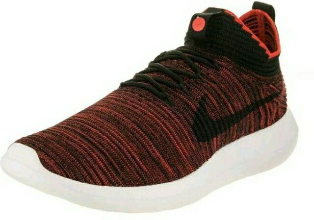 Nike Roshe Two Flyknit V2 Run Chile Red Black White 918263-601 Men's SZ 9.5