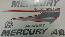 Adesivi motore marino fuoribordo Mercury 40 60 hp four stroke  optimax barca