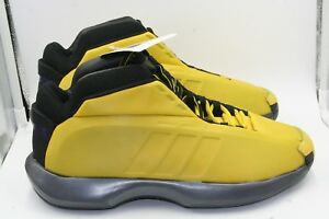 innovative design 3b4c4 37cae Image is loading Adidas-Crazy-1-Sunshine-Yellow-DS-Sz-11-