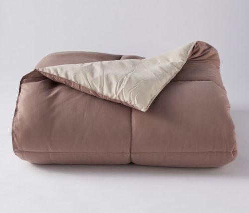 The Big One Down Alternative Reversible Comforter, Taupe braun, König - MSRP  119