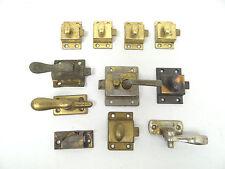 Antique & Vintage Lot Used Metal Brass Drawer Door Lock Handles Mechanisms Parts