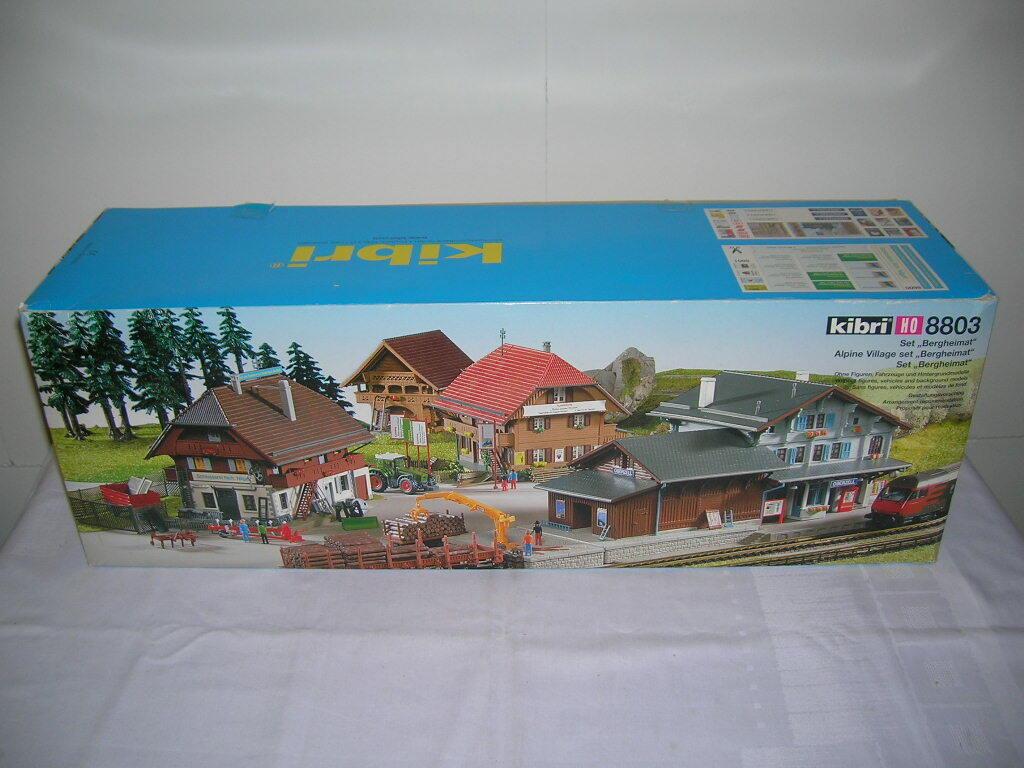 Kibri h0 alpino aldea-set  Montaña natal  con la estación 1 87 kit kit 8803