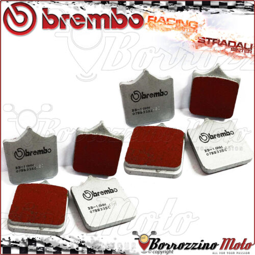 8 FRONT BRAKE PADS BREMBO SINTERED RACING 07BB33SC APRILIA RSV FACTORY 1000 2007