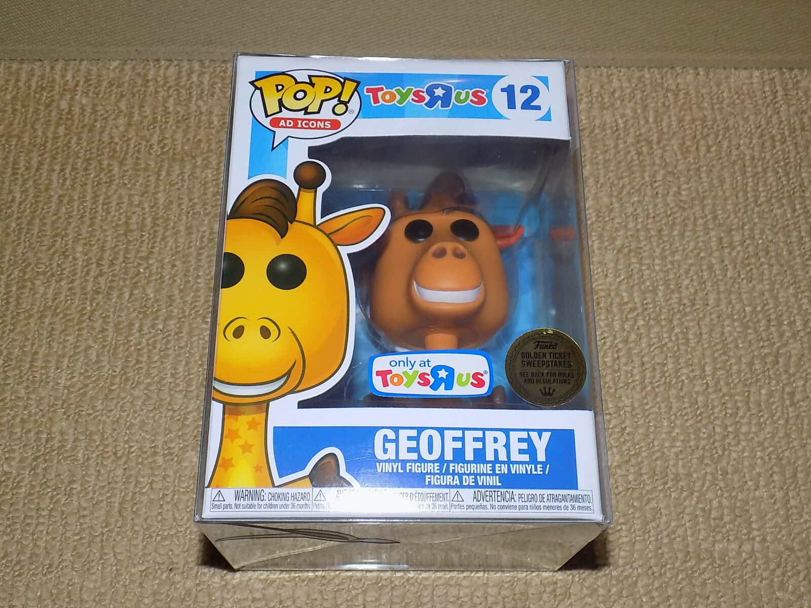 FUNKO, POP, TOYS R US GEOFFREY, AD ICONS  12, VINYL FIGURE, NEAR MINT, UNSEALED