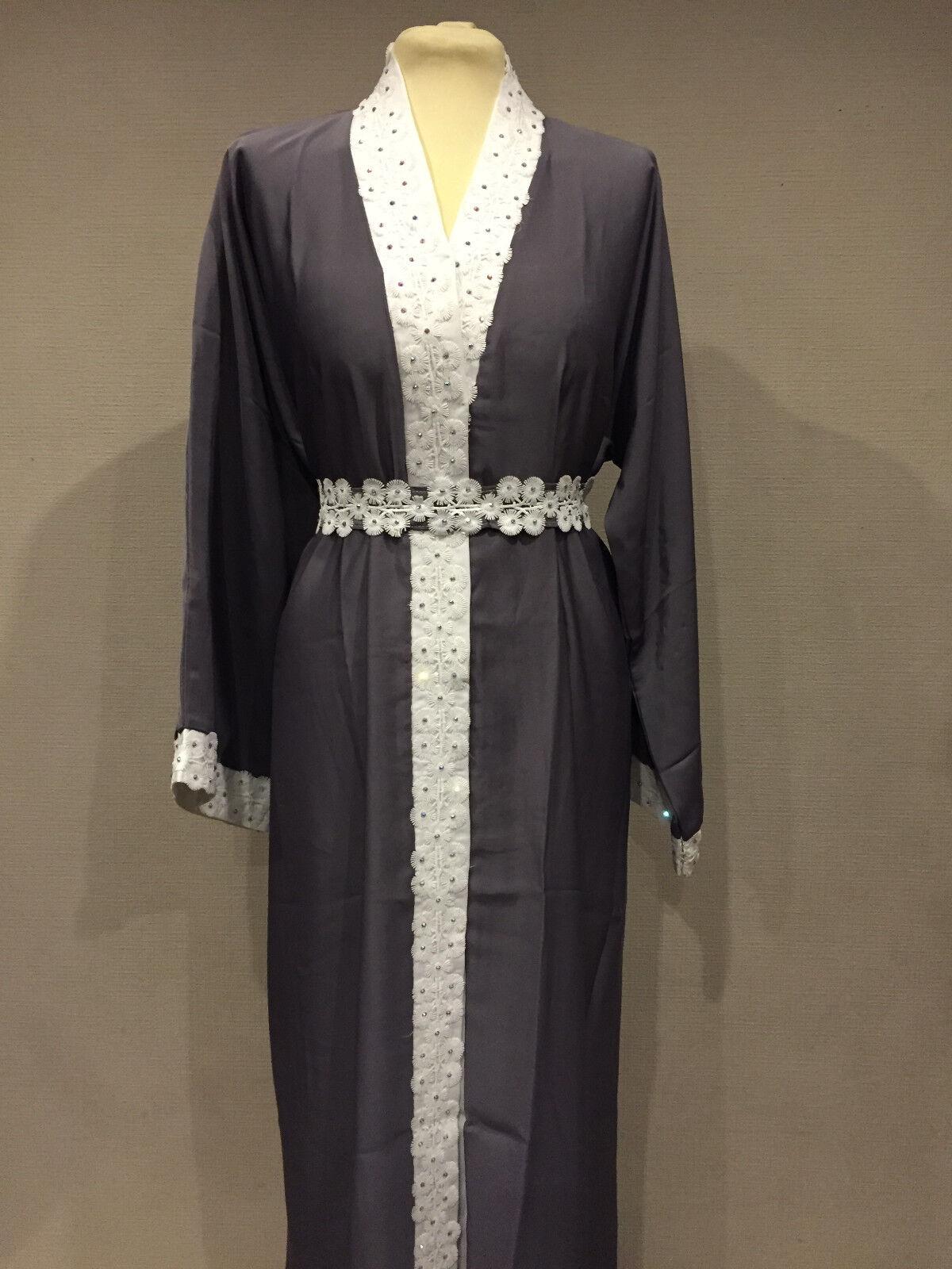 Women Ladies Abaya Jubba Dress Farasha Jilbab Maxi Kaftan Burkha Dubai BEL02 NEW