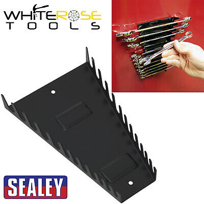 Tool Storage Racks /& Stands WR07 Sealey Spanner Rack Capacity 12 Spanners
