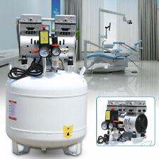 40l Air Compressor Dental Medical Noiseless Oilless Air Compressor 115 Psi 110v