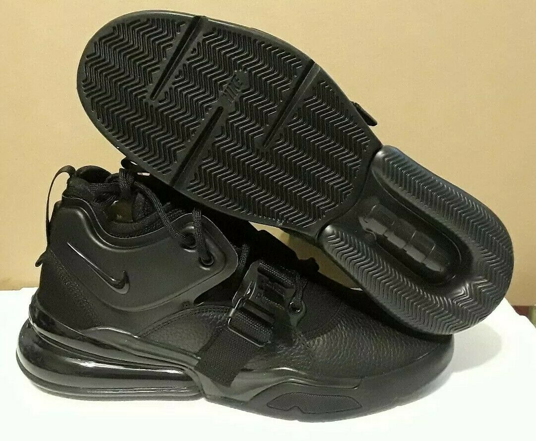 NIKE  MEN'S AIR FORCE 270 TRIPLE BLACK  SNEAKERS AH6772-010  SIZE  9