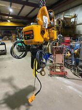 Harrington 1 Ton Electric Chain Hoist Ner010ld2 Spd 145 15 Ft Lift 230460v