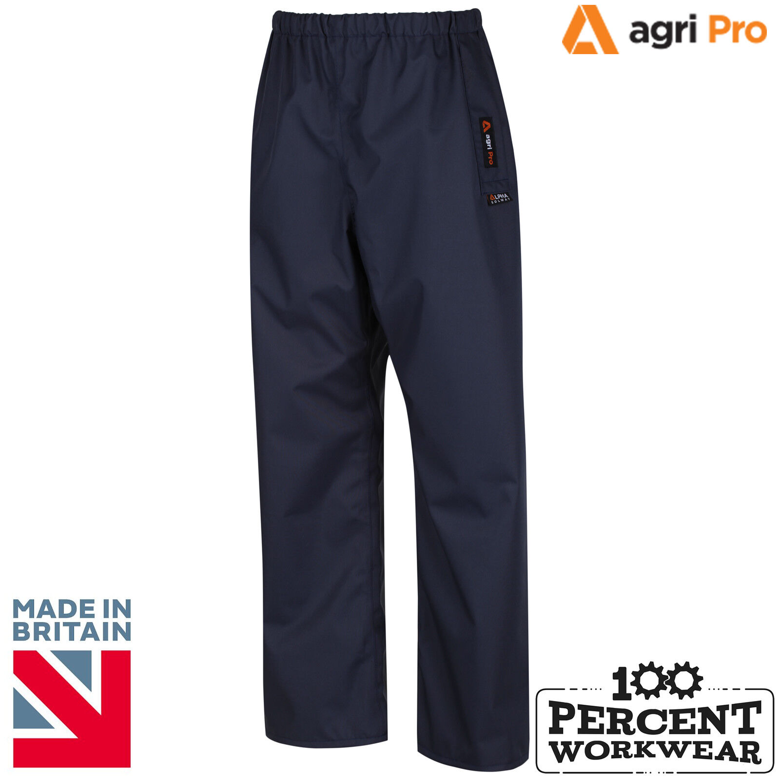 Alpha Solway Agri Pro Lightweight Durable Waterproof Over Trousers Farm Jet Wash