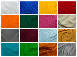 FREE-P-amp-P-25-COLS-Plain-Coloured-Warm-Soft-Anti-Pill-Polar-Fleece-Fabric-Craft