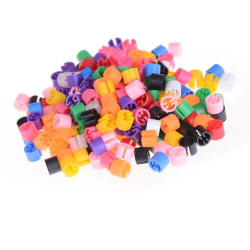 100 Snap On Hanger Größe Marker Kleidersizer Donuts Bagels Cubes Sizer* sg