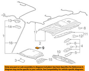 image is loading gm-oem-interior-roof-air-deflector-84011080