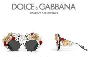 e08d8bebfa1  5K RARE New DOLCE GABBANA MAMAS BROCADE Collectors Sunglasses DG ...